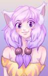 Cute Cat Girl Colored