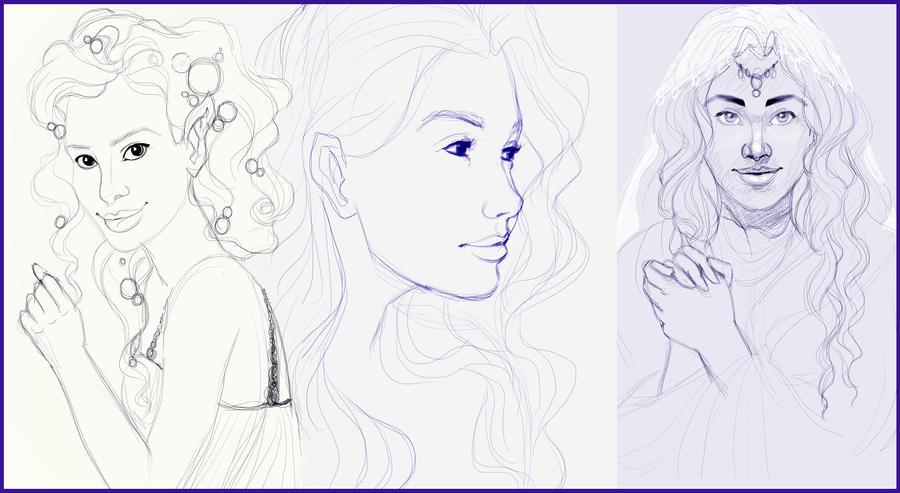 Recent sketches by madam-marla