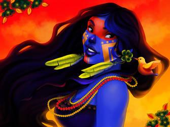 The Blue Native by madam-marla