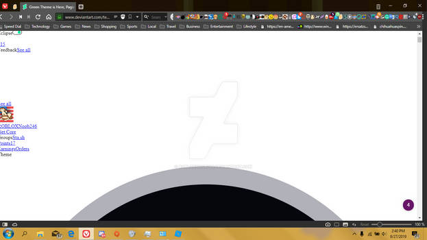 This is what happens if i use Deviantart Eclipse.