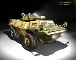 3D: low polygon tank by Ecanhoj