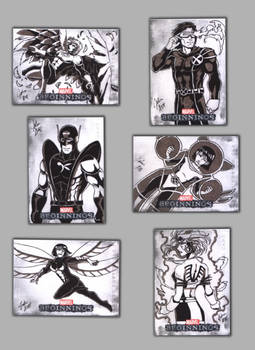 Marvel beginnings: Angel, Cyclops, Wasp, Phoenix
