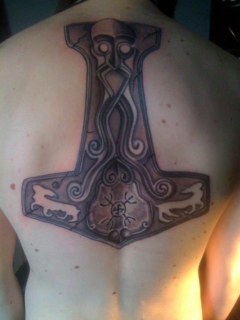 Mjolnir - Thors Hammer Tattoo by Maizy138 on DeviantArt