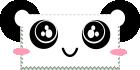 kawaii panda stamp by anyaaequinox