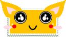 kawaii fox stamp by anyaaequinox