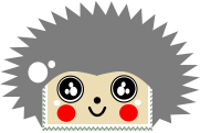 kawaii hedgehog stamp by anyaaequinox