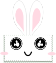 kawaii rabbit stamp by anyaaequinox