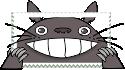 Totoro stamp by anyaaequinox