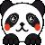 kawaii panda icon by anyaaequinox