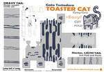 papercraft gato tostadora gris