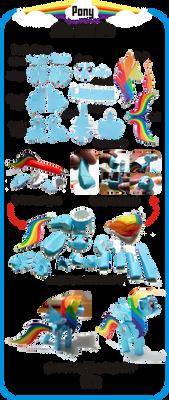 Pony Papercraft Instruction by Kna