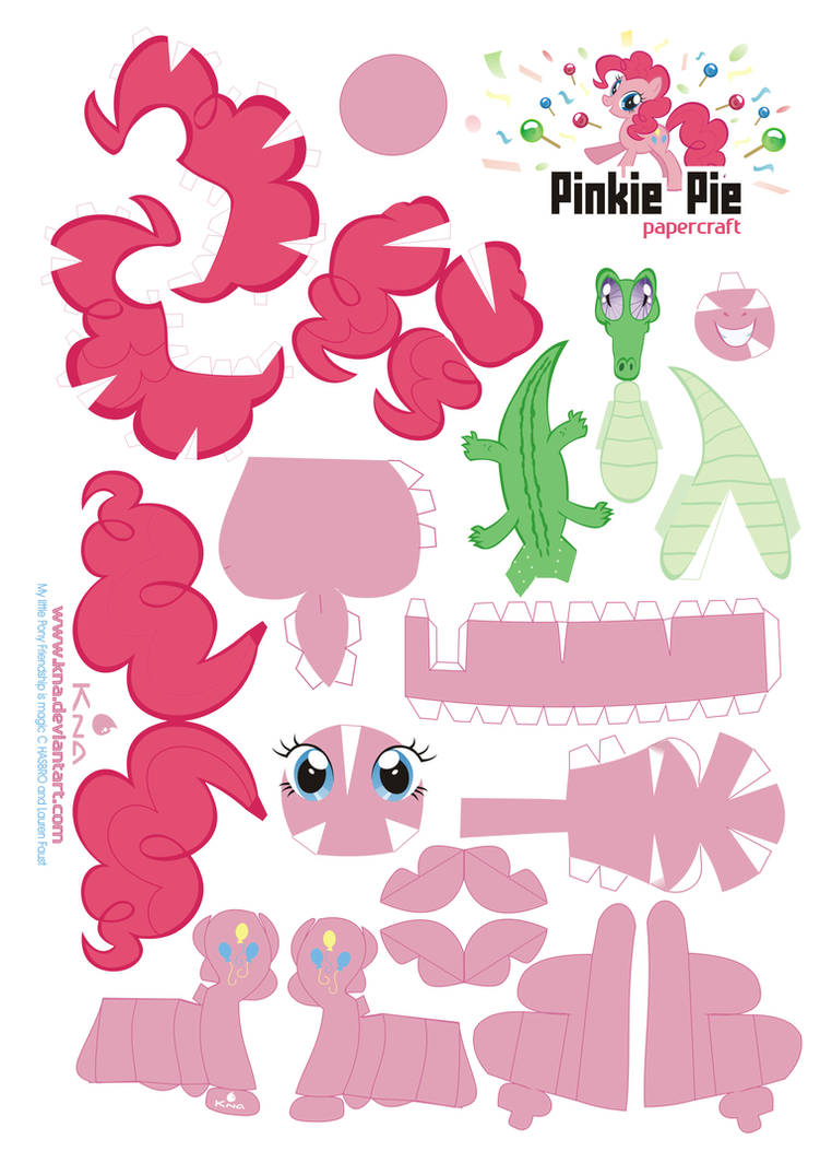 Pinkie Pie Papercraft By Kna On Deviantart