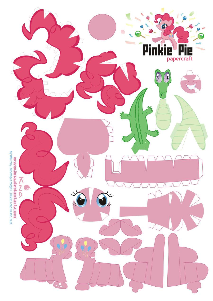 Pinkie Pie Papercraft by Kna