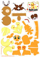 Applejack Papercraft by Kna