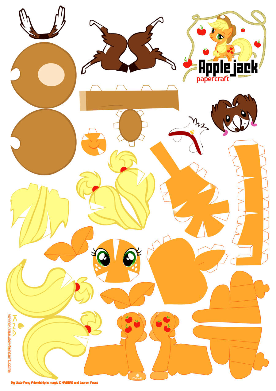 applejack papercraft by kna artisan crafts folding papercraft models ...