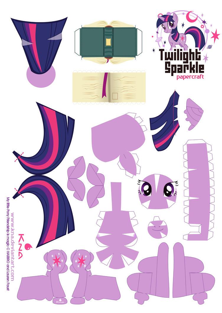 Twilight Sparkle Papercraft by Kna