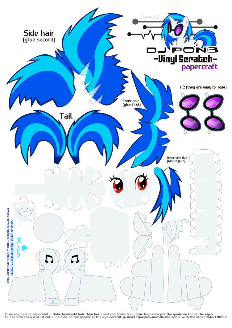 vinyl Scratch DJPON3papercraft by Kna