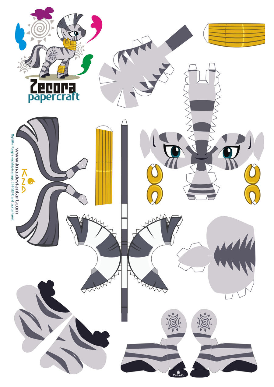 Zecora papercraft by Kna
