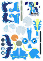 Soarin papercraft by Kna
