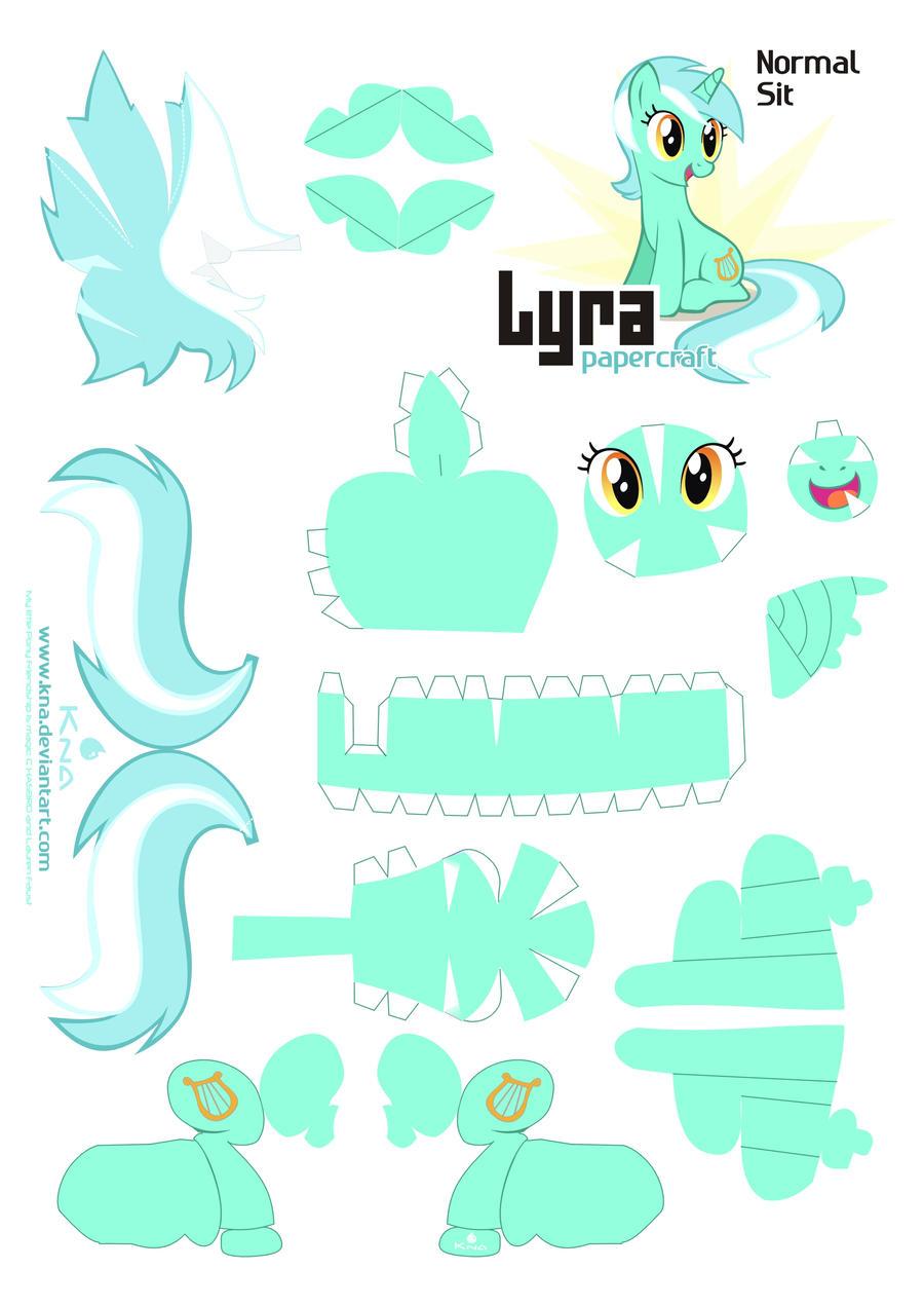 Lyra Papercraft Pattern Normal by Kna