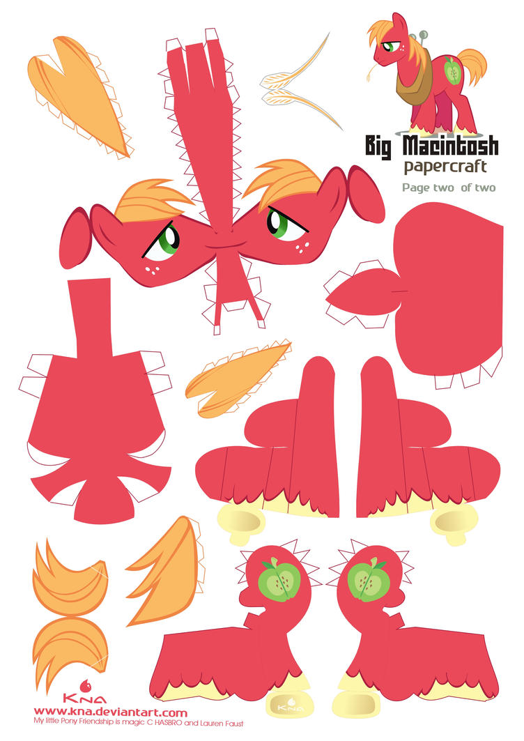 Big Mac Papercraft pattern 01 by Kna