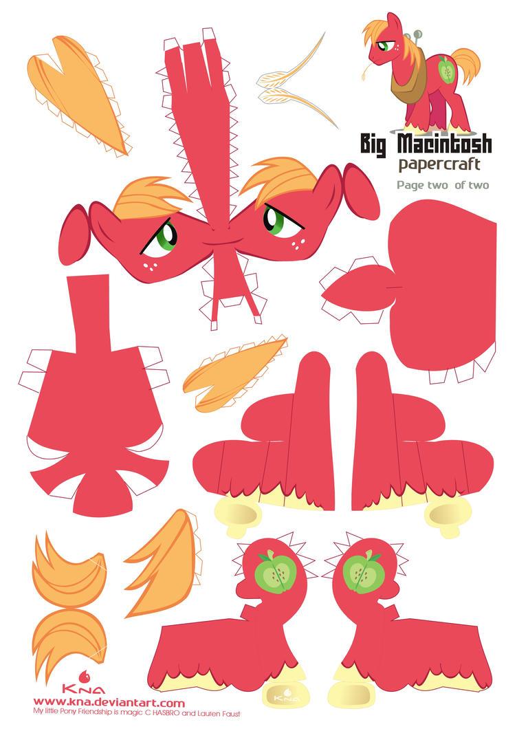Big Mac Papercraft pattern 01 by Kna