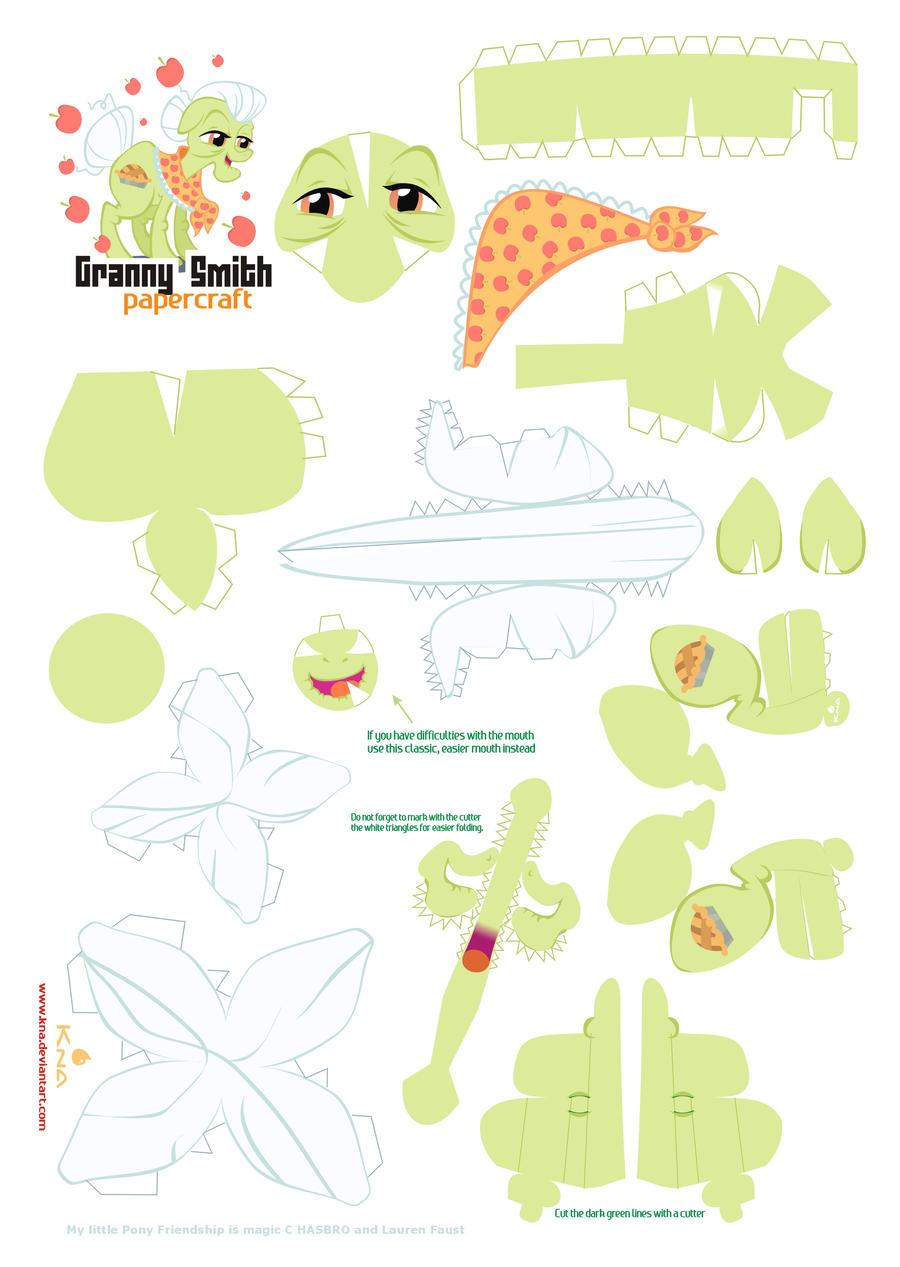 Granny Smith papercraft pattern by Kna