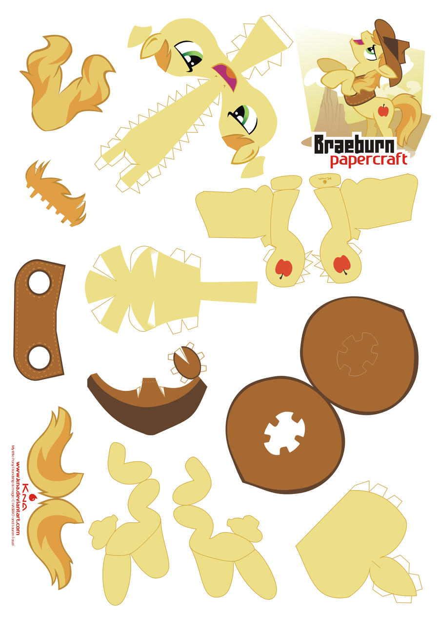 Braeburn papercraft pattern by Kna