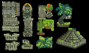 mayan pixelart by Kna
