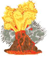 un volcan en erupcion by Kna