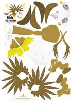 Gilda Papercraft Pattern by Kna