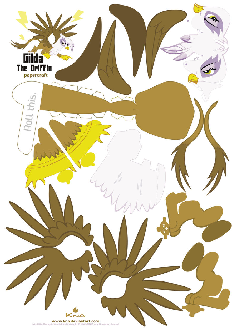 Gilda Papercraft Pattern by Kna
