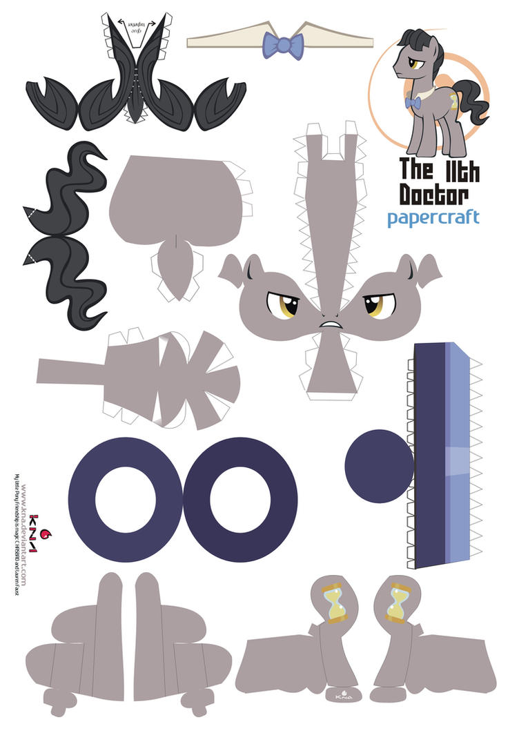 11th Doctor whoof pony vector by Kna