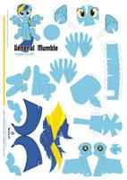 general Mumble Papercraft  Pattern by Kna