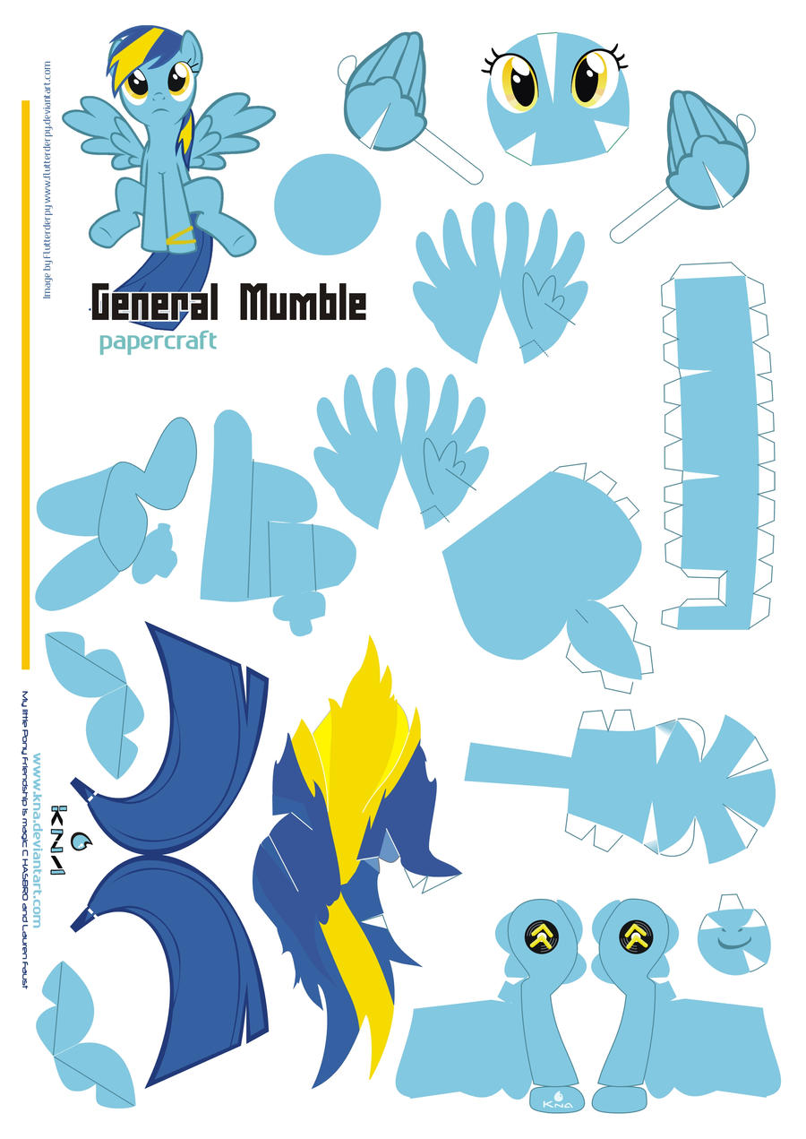general Mumble Papercraft  Pattern by Kna