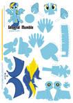general Mumble Papercraft  Pattern
