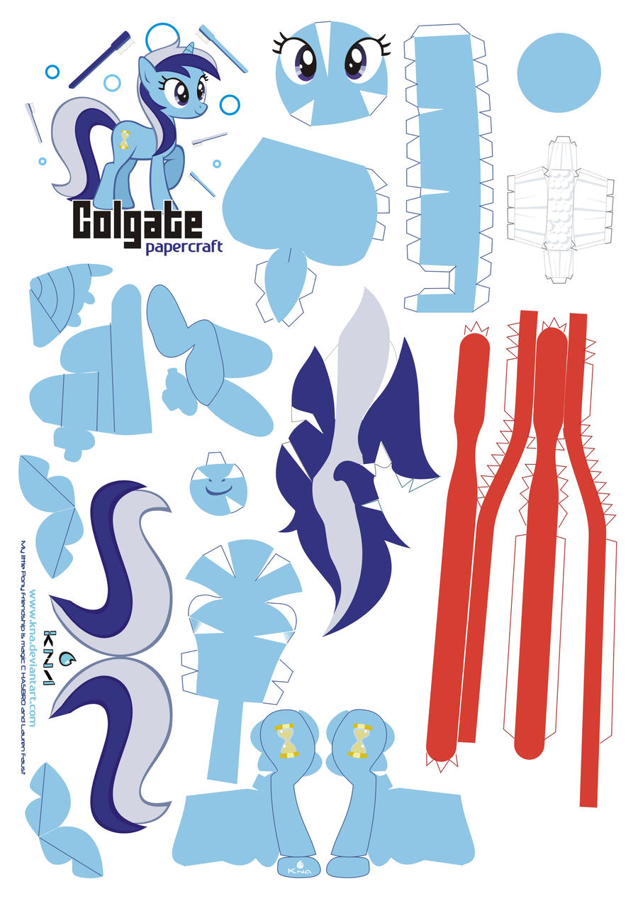 Colgate Papercraft Pattern By Kna On Deviantart