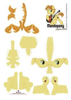 Mandopony Papercraft Pattern
