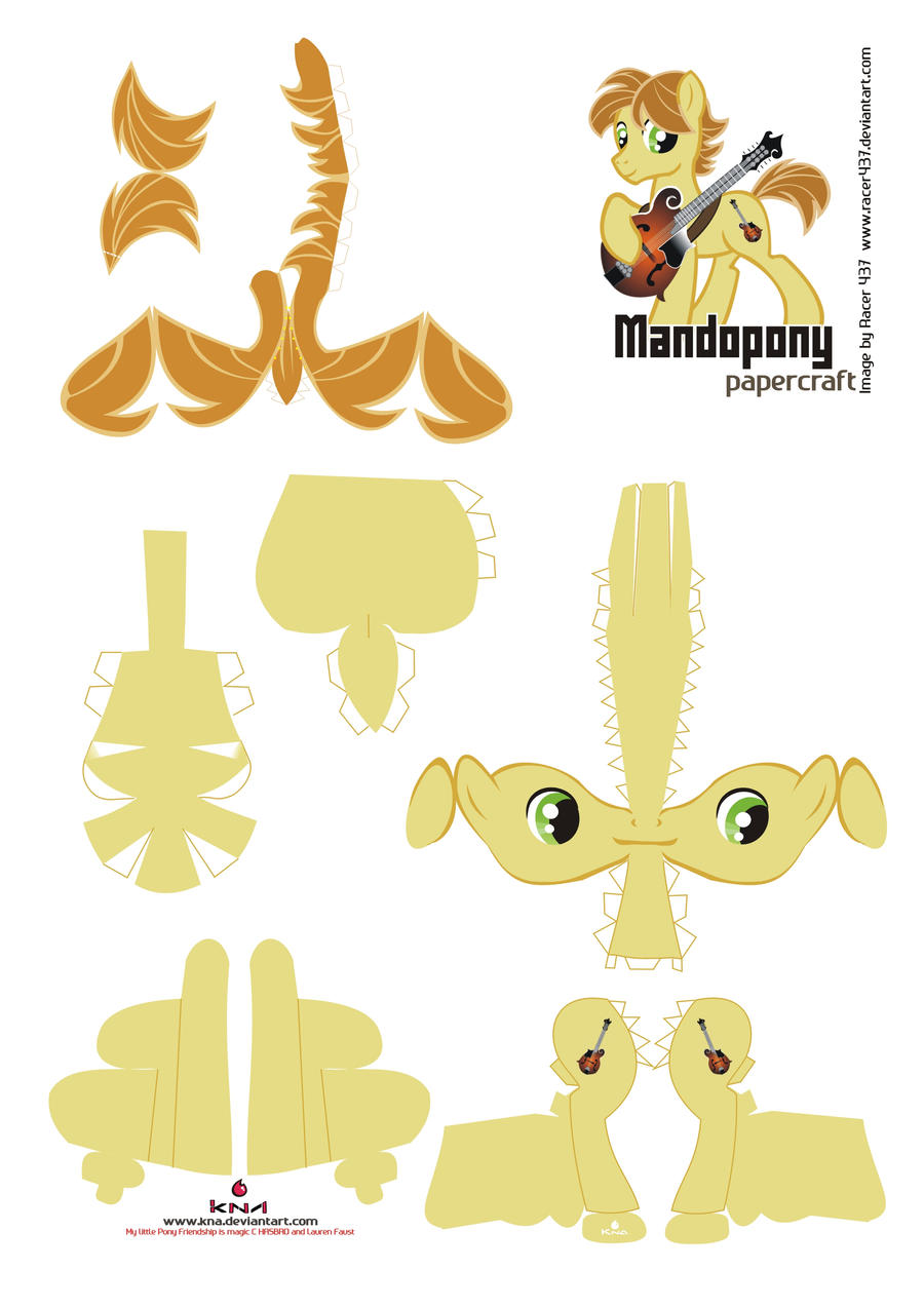 Mandopony Papercraft Pattern by Kna