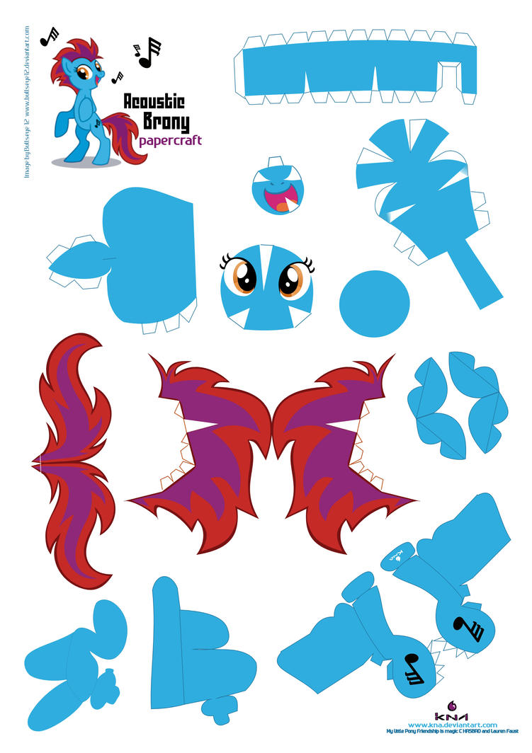 Acoustic Brony Papercraft Pattern by Kna