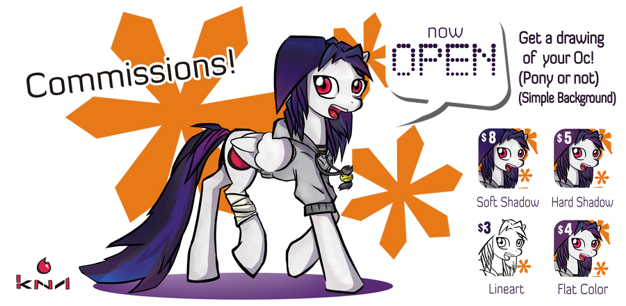 Commissions open by Kna