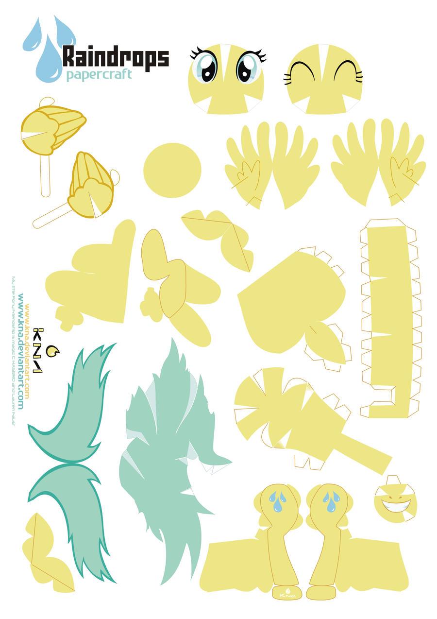 Raindrops Pony Papercraft