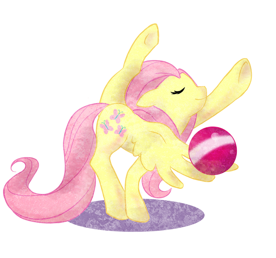 Fluttershy gymnast by Kna
