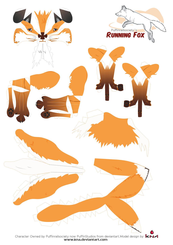 Паперкрафт схемы маска лисы 550