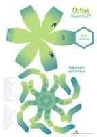 Octopi Papercraft Pattern by Kna