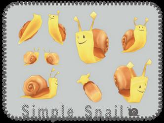 3d Snail Lowpoly by Kna