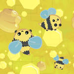 yellow of bees tile wallpaper
