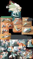 cristal Dragon papercraft some photos