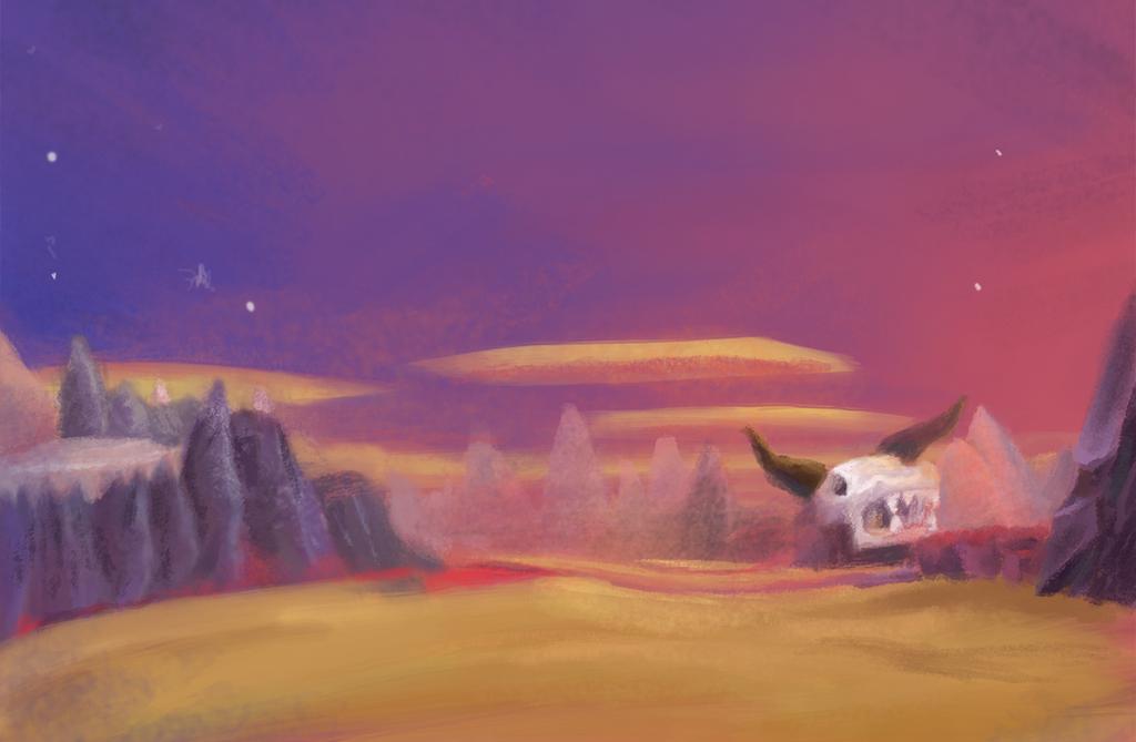 Spyro 2  Skelos Badlans by Kna