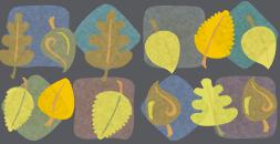 Leave the leaves tile wallpaper seamless v2 by Kna